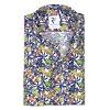 Multicolour floral print linen shirt.