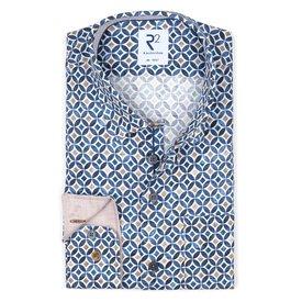 R2 Multicolour dobby cotton shirt.