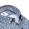 Multicolour dobby katoenen overhemd.