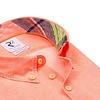 Neon orange linen shirt.
