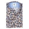Blaues Blumendruck Baumwollhemd