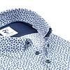 Weißes Grafikdruck Baumwollhemd.
