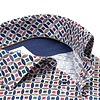 Multicolour graphic print dobby cotton shirt.