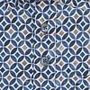 Korte mouwen blauw grafische print dobby katoenen overhemd.