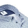 Kurzärmeliges blaues Grafikdruck Baumwollhemd.