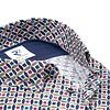 Short sleeves multicolour graphic print cotton shirt.