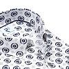 Short sleeves white dots print cotton shirt.