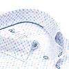 Korte mouwen wit mini dessin organic cotton overhemd.