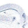 Kurzärmeliges weißes Mini-Dessin Organic Baumwollhemd.