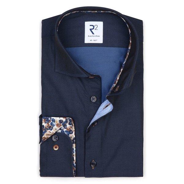 R2 Navy blue cotton shirt.