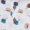 Wit bloemenprint stretch katoenen overhemd.