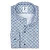 White circle print 2 PLY dobby cotton shirt.