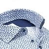 Wit grafische print katoenen overhemd.