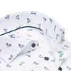 Weißes Phatfour Print Bio-Baumwollhemd.