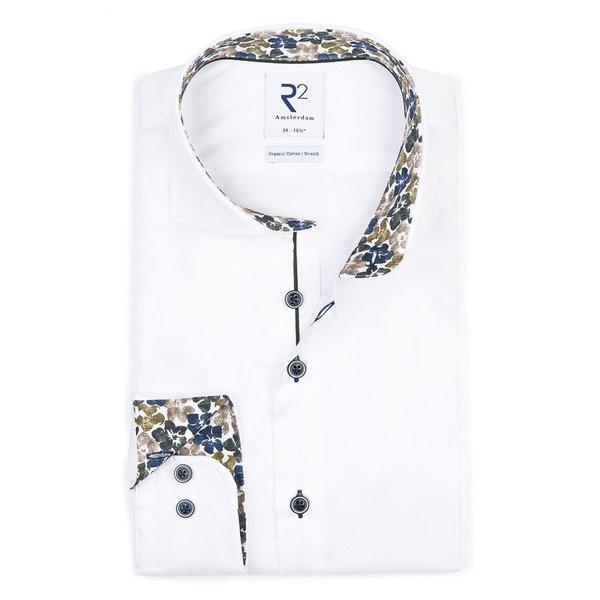 R2 White 2 PLY cotton shirt.