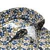 Grünes Blumendruck Dobby Baumwollhemd.