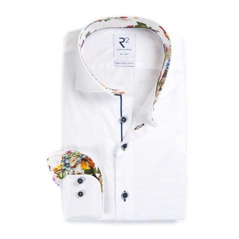 White cotton 2 PLY shirt.
