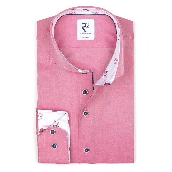 R2 Roze katoenen overhemd.