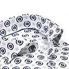 Weißes Punktdruck Baumwollhemd.