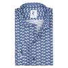 Blue flower print cotton shirt.