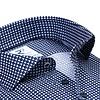Marineblaues Grafikdruck Organic Baumwollhemd.