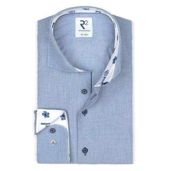R2 Light blue cotton shirt.