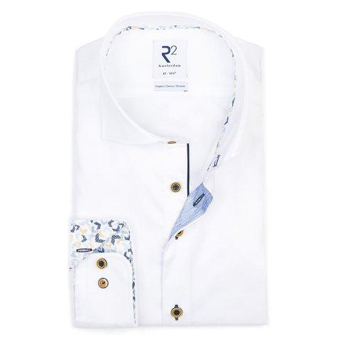 Weißes 2 PLY Baumwollhemd.