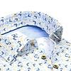 Meerkleurig grafische print 2 PLY organic cotton overhemd.