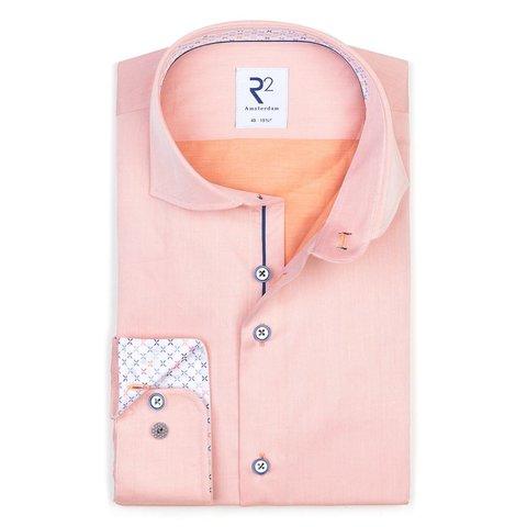 Oranje 2 PLY katoenen overhemd.