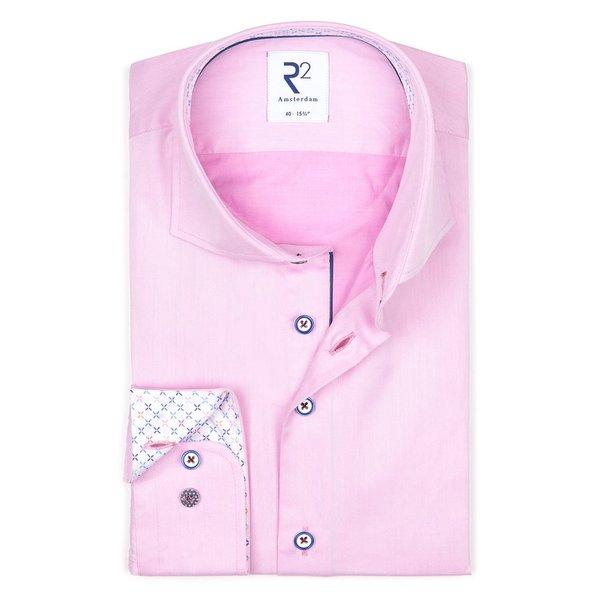 R2 Roze 2 PLY katoenen overhemd.