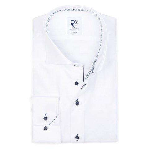 Wit 2 PLY katoenen overhemd.