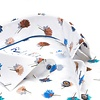 Extra lange mouwen. Wit bloemenprint stretch katoenen overhemd.