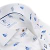 Extra long sleeves. White Dutch print organic cotton shirt.