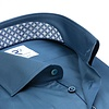 Extra lange Ärmel. Blaues 2 PLY Baumwollhemd.