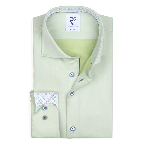 Green 2 PLY cotton shirt.