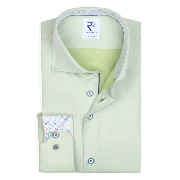 R2 Green 2 PLY cotton shirt.
