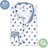 Extra lange mouwen. Wit bloemenprint 2 PLY organic cotton overhemd.