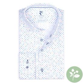 R2 Wit mini dessin organic cotton overhemd.