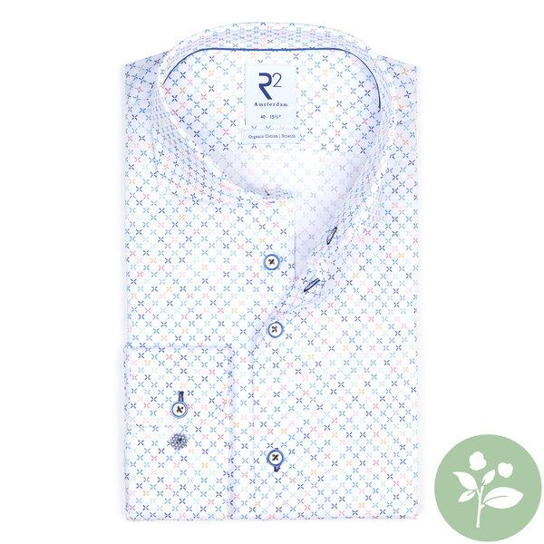R2 White mini dessin organic cotton shirt.