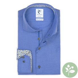 R2 Light blue organic cotton shirt.