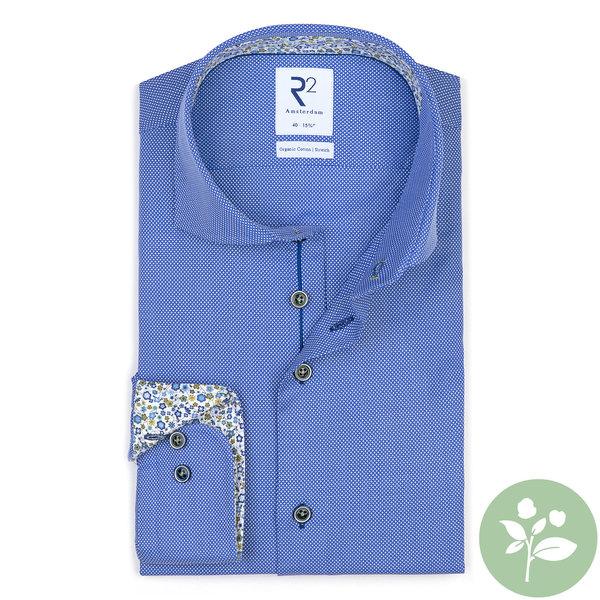 R2 Licht blauw organic cotton overhemd.