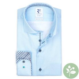 R2 Lichtblauw oxford 2 PLY organic cotton overhemd.