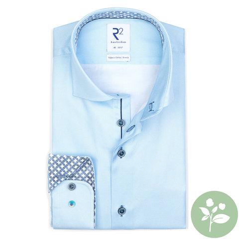 Lichtblauw oxford 2 PLY organic cotton overhemd.