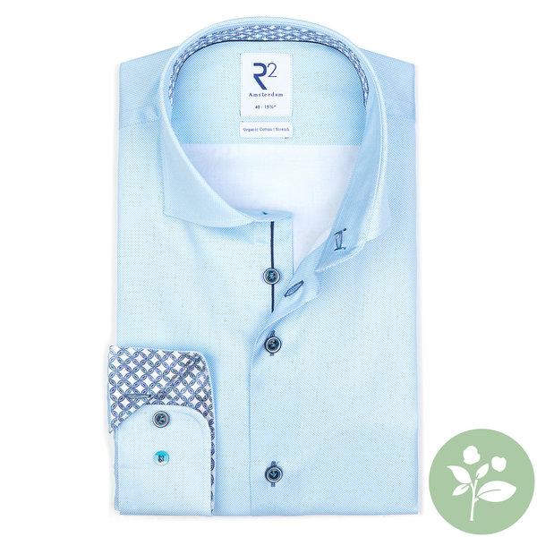 R2 Light blue oxford 2 PLY organic cotton shirt.