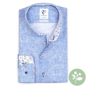 R2 Licht blauw 2 PLY organic cotton overhemd.