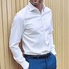 White non-iron cotton shirt.