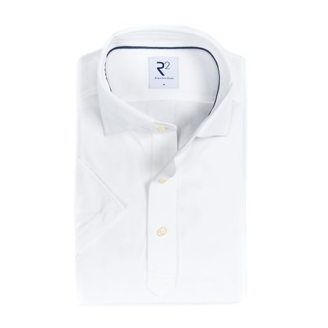 Wit piquet katoenen overhemd.