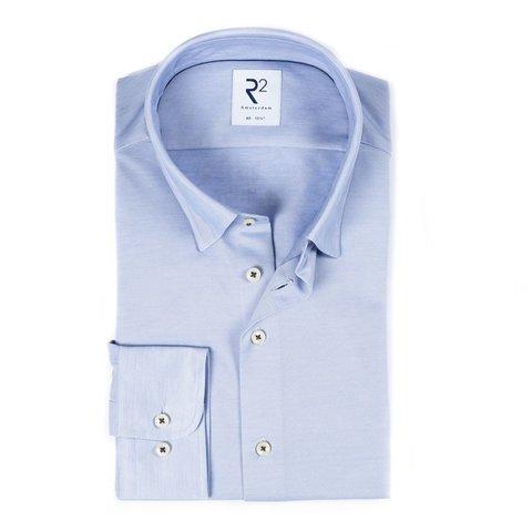 Light blue piquet cotton shirt.