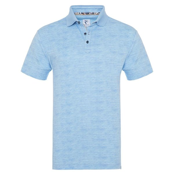 R2 Light blue cotton polo.