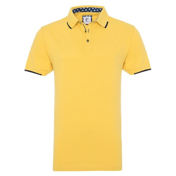 R2 Yellow piquet cotton polo.